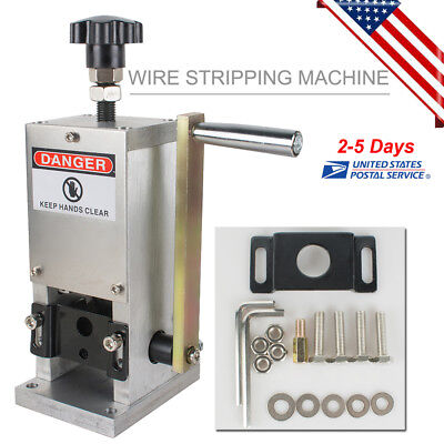 Durable Copper Wire Stripping Machine Hand Crank Drill Operated Cable Stripper