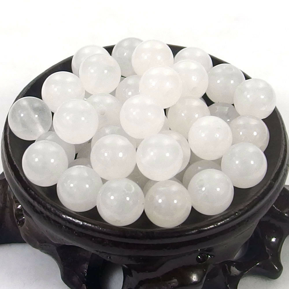 Bulk Gemstones I natural spacer stone beads 4mm 6mm 8mm 10mm 12mm jewelry design white jade