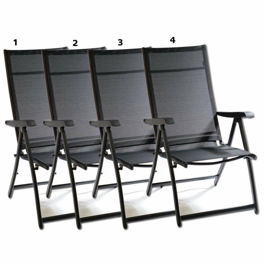 4x heavy duty adjustable reclining folding chair
