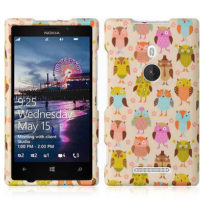 Fancy Owl Design Snap-On Hard Case Cover for Nokia Lumia 925 Design Snap Case