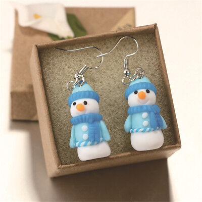 Christmas Snowman Drop Dangle Earrings Ear Stud Earrings Gift Women Jewelry