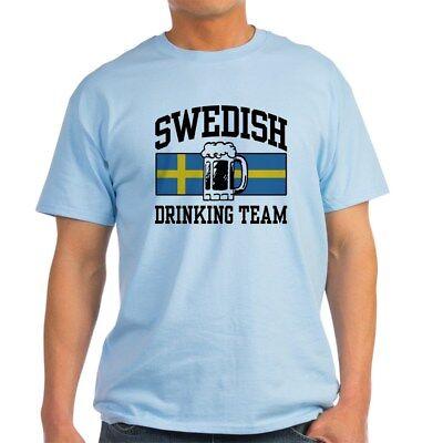 CafePress Swedish Drinking Team Light T Shirt 100% Cotton T-Shirt (263592686)