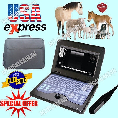 Us Seller Hot Veterinary Ultrasound Scanner Laptop Machine 7.5mhz Rectal Probe