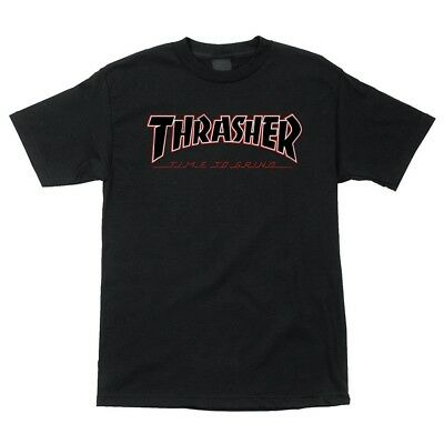 4bc3c4412433 Independent x Thrasher TIME TO GRIND Skateboard T Shirt BLACK LARGE