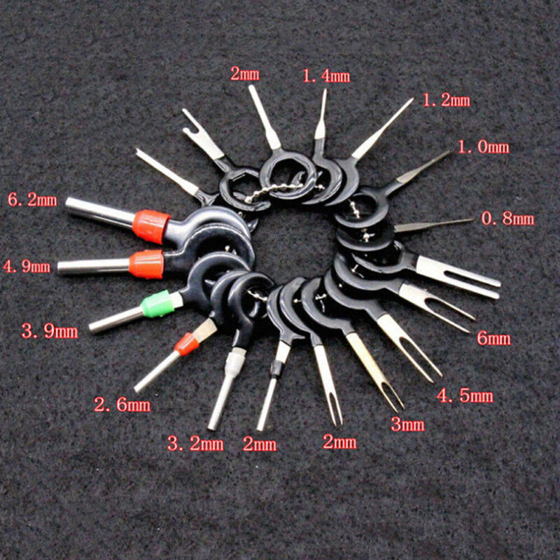 29Pcs Car Terminals Removal Key Tools Set connector Wire Pin Release Extractor