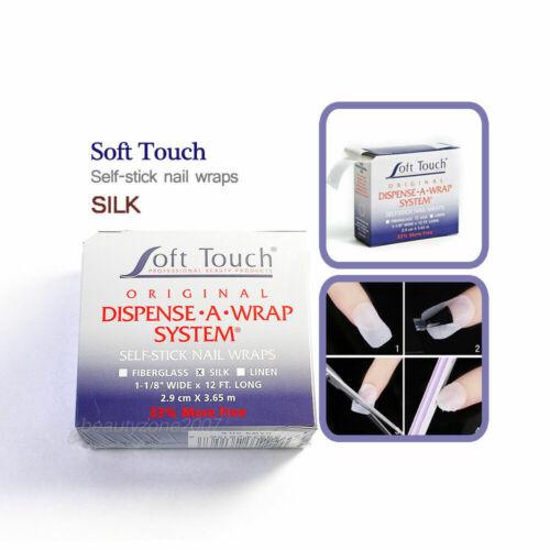 """Soft touch Dispense A Wrap SILK self stick nail wraps 1-1/8"""" x 12ft"""