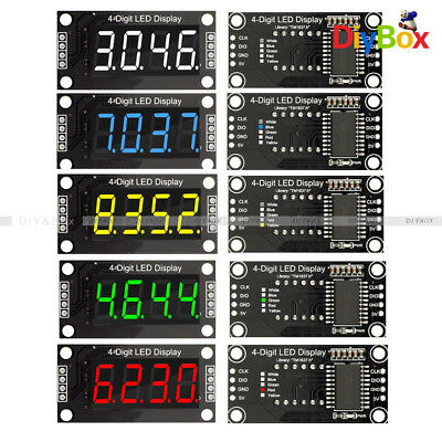 0.36 Tm1637 4-digit Red Blue Green Yellow White Led Display Module Tube Board