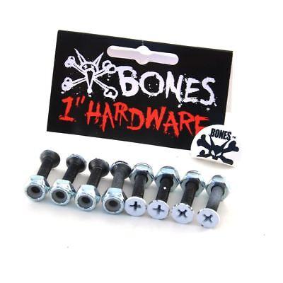 "Bones Skateboard Hardware/Mounting Bolts Vato 1"" Phillips (pack of 8) FREE SHIP"