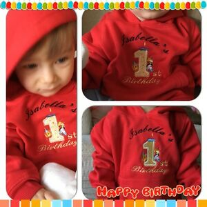 PERSONALISED YOUR NAME BABY 1ST BIRTHDAY HOODIE,OUTFIT,JUMPER PERFECT GIFT IDEA!