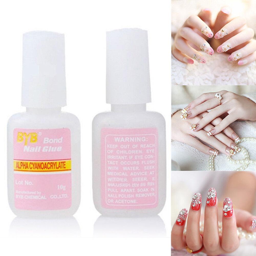 1X 10g Nail Art Glue False Acrylic Nail Tip Beauty Adhesive Tool ...