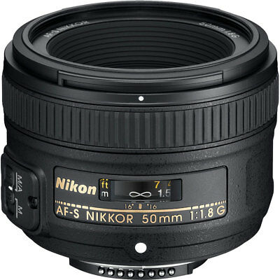 Nikon 50mm f/1.8 F1.8 G AF-S Nikkor Lens for Digital SLR Cameras