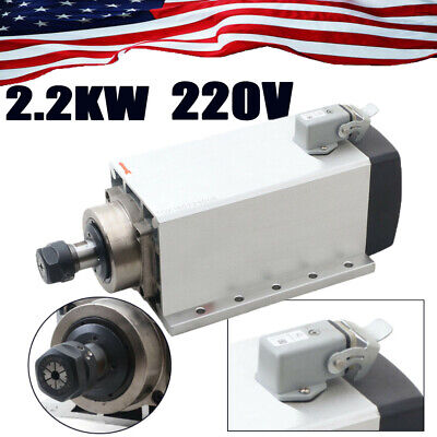 2.2kw Spindle Motor 220v Air-cooling Er20 For Cnc Router Woodworking 18000rpm