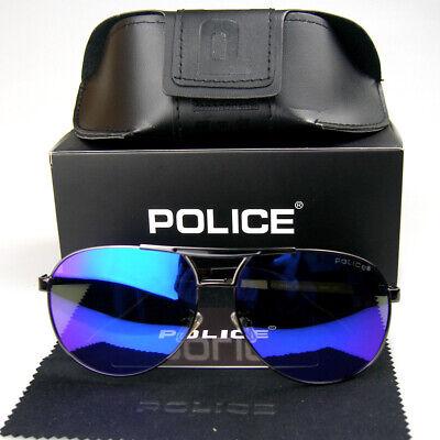 New Men Women Polarized Sunglasses Aviator Metal Frame Police Driving (Police Glasses Men)