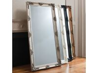 New Abbey leaner mirrors in silver black cream or gold Only £139