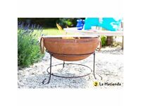 Traditional Indian Steel Firepit Fire Bowl Fire Pit Zanga