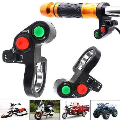3in1 Function Motorcycle Handlebar ON OFF Switch For Horn Headlight Turn Signal