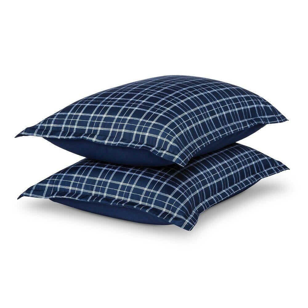Room Essentials Freehand Pillow Sham – Blue (Standard) Bedding