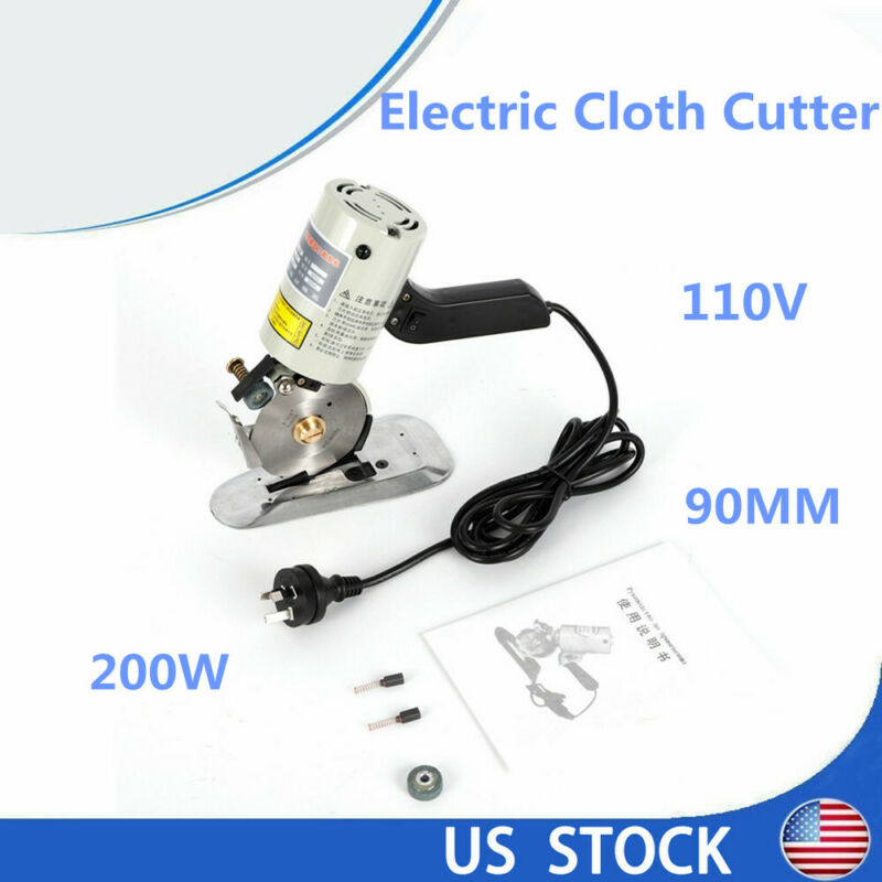 "90mm Blade Electric Cloth Cutter 3.5"" Fabric Cutting Machine 110V+Free shipping"