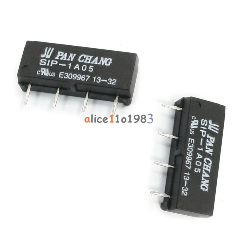 1/2/5/10PCS 4PIN Dry Reed Relay SIP-1A05 Reed Switch Relay DC 5V for PAN CHANG