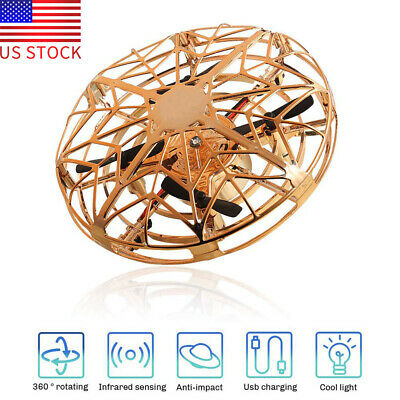 Drones for Kids Flying Toys Mini UFO Drone Safe Induction scratch resistant Gold