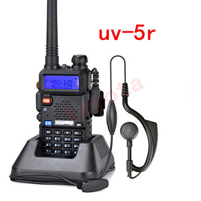 BAOFENG UV-5R Dual Band UHF / VHF Two Way Ham FM Radio Walkie Talkie + Earpiece on Rummage
