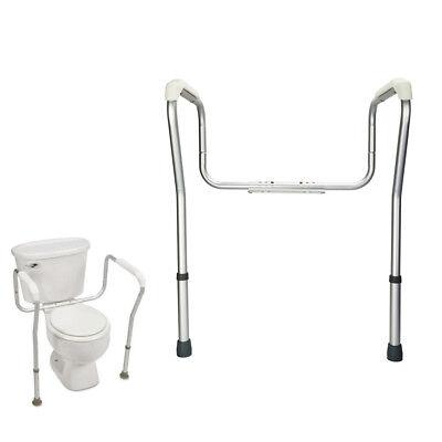 Toilet Safety Frame Bathroom Grab Bars Seat Medical Support Handicap Arms