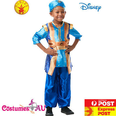 Boys Genie Aladdin Prince Disney Costume Kids Blue Live Action Child Book Week - Genie Child Costume
