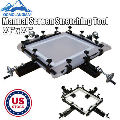 Us Stock 24 Manual Screen Stretching Machine Screen Printing Stretcher Tool