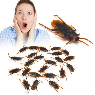 Halloween Bug Jokes (Fake Cockroach Vivid Halloween Prank Trick Roach Bugs Funny Joke Birthday)