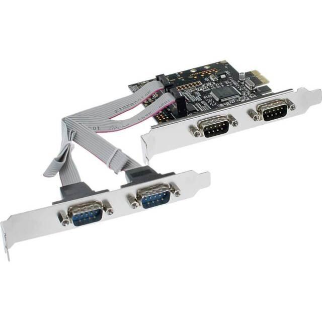 InLine - PCI-Express Karte 4x Seriell 9-pol RS-232, PCIe