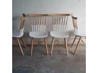 UPCYCLED DUET DINING CHAIRS (set of four)