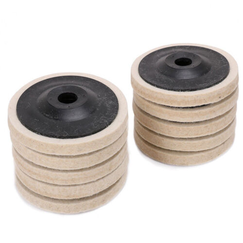10pcs 4-inch Diameter 100mm Wool Buffing Polishing Wheel Pad Buffer Disc Bore Dia 16mm