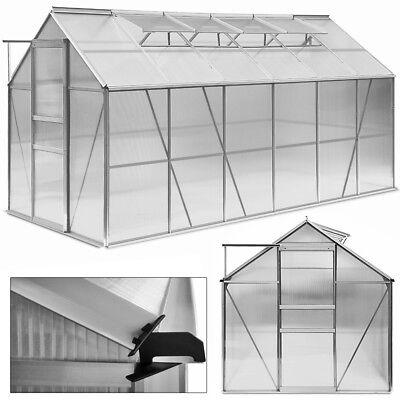 DEUBA Aluminium Greenhouse Polycarbonate Large Garden Glass House 11.73 m³