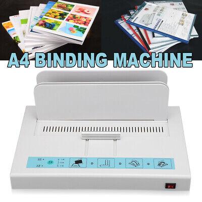 A4 Paper Electric Automatic Hot Melt Glue Binding Machine Book Binder Adjustable