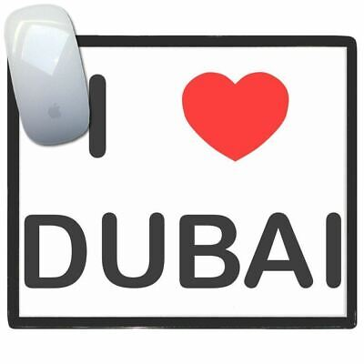I Love Dubai - Thin Pictoral Plastic Mouse Pad Mat Badgebeast
