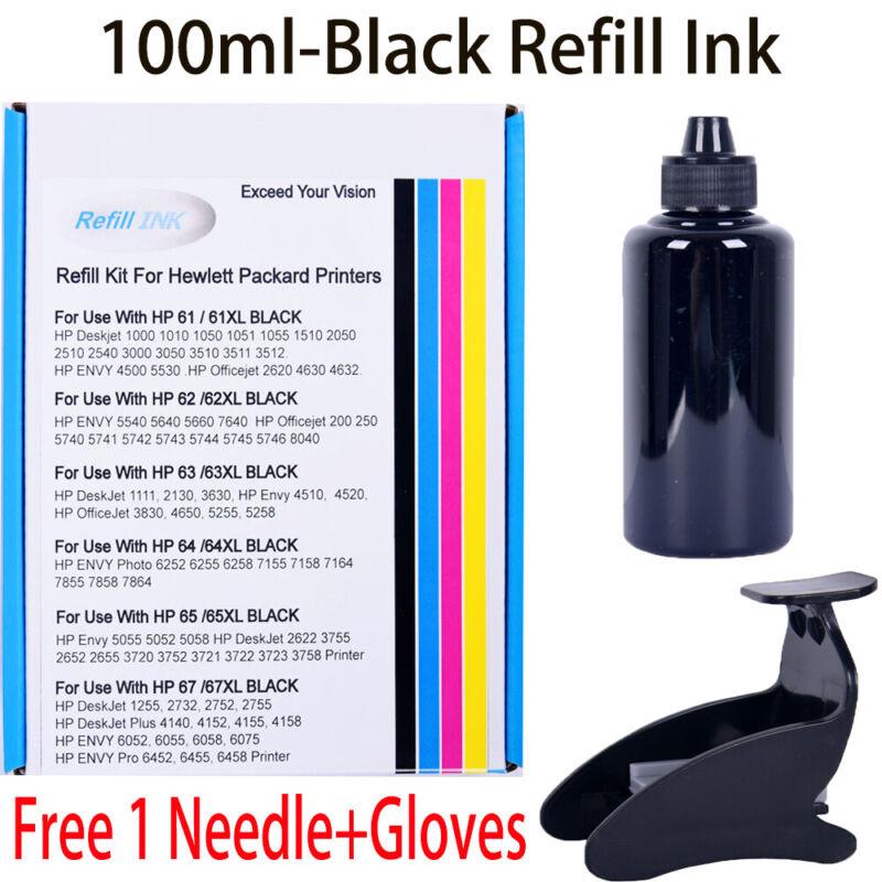 For HP 67/67XL Black Refill Ink Kit For HP Envy Pro/ Deskjet Plus 2755/4155/6455
