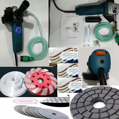 Wet Polisher Grinder Sander 15 Polishing Pad Cup Wheel Stone Granite Refinishing