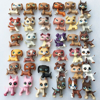 3pcs Random Littlest Pet Shop LPS Great Dane Dog LPS Collie Cat FREE SHIP