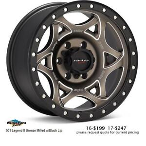 Walker Evans Racing wheels, 501 Legend II (Bronze Milled w Black Lip)