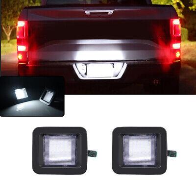 1Set 3W White LED License Plate Lights For 15-up Ford F-150 & Ford 17-up Raptor