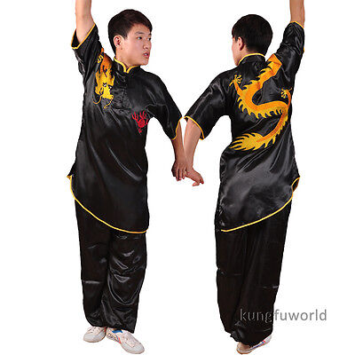 kungfuworld Silk Embroidery Changquan Uniform Martial arts Wushu Suit Costumes (Martial Arts Costumes)