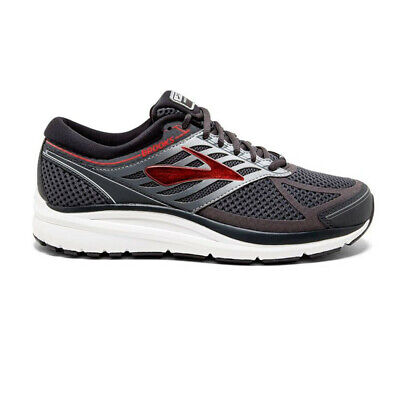 Brooks Mens Addiction 13 Running Shoes Trainers Sneakers Grey Red Sports