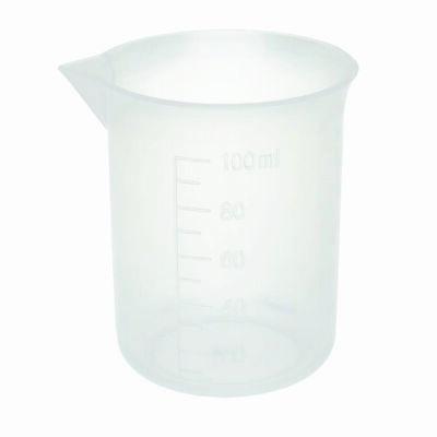 100ml Plastic Beakers Molded Graduations Case 48