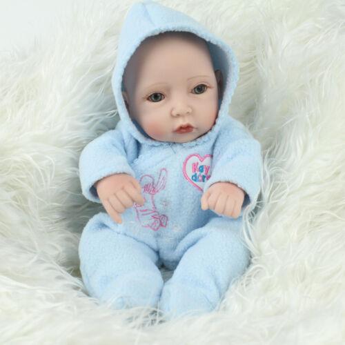10'' REBORN BABY DOLLS FULL VINYL SILICONE BATHING NEWBORN TOYS DOLL BOY GIFT