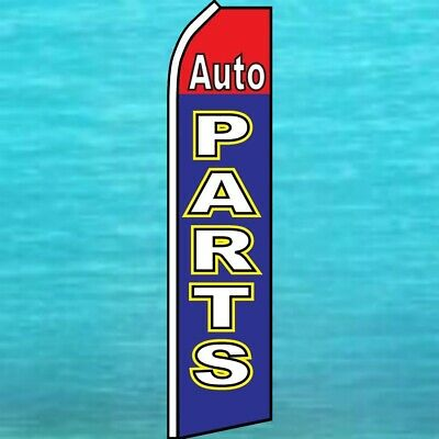 Auto Parts Flutter Flag Tall Curved Wind Banner Advertising Sign Feather Swooper