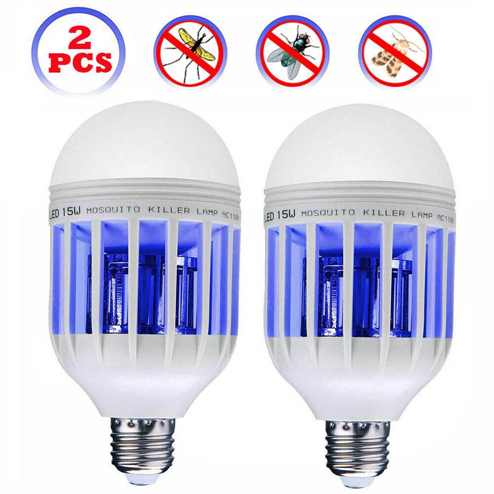 2packs led light zapper lightbulb bug mosquito