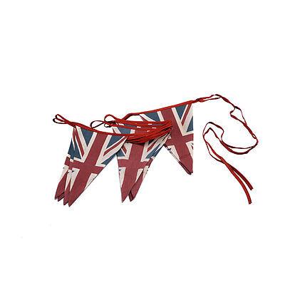 Vintage British Union Jack Textile Flag Cloth Fabric Bunting Retro Banner UK