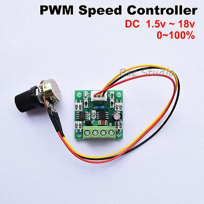 2a Low Voltage 1.8v 3v 5v 6v 9v 12v Mini Pwm Dc Motor Speed Controller Regulator