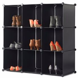VONHAUS 9X STORAGE CUBES - BLACK new boxed Organise Clothing, Shoes, Toys