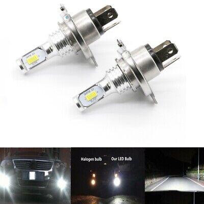 H4 9003 CSP 6000K LED Headlights High Low Beam Bulb Kit 55W 8000LM Plug And (Best Fitness Tracker For Biking)